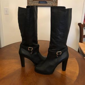 Banana Republic Shawna Blk Leather Boots